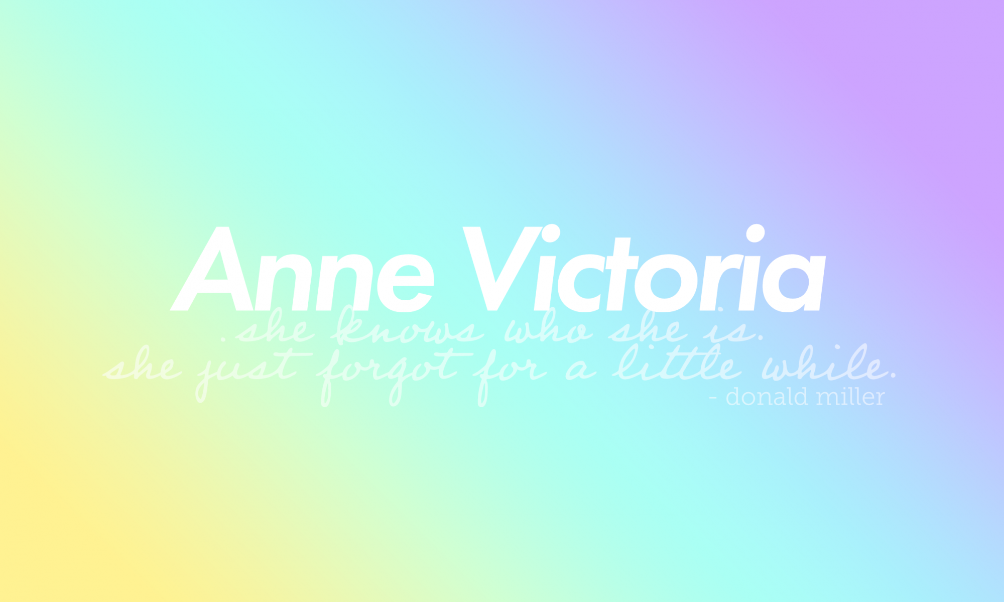 ANNE VICTORIA